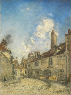 Street in Nevers; The House of the poet Adam Bellaud | Johan Barthold Jongkind | Oil Painting