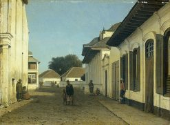 A Street in the Old Part of Batavia(also known as Een straat in het oude deel van Batavia) | Johannes 'Jan' Weissenbruch | Oil Painting