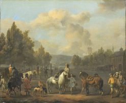The Riding School | Johannes Lingelbach | Oil Painting