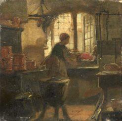 Kitchen Interior | Matthijs Maris | Oil Painting