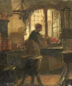 Kitchen Interior | Matthijs Maris | Oil Painting