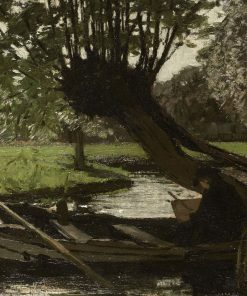 Boat with a Pollard Willow | Matthijs Maris | Oil Painting