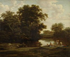 Landscape with Bathers | Nicolaes Berchem | Oil Painting