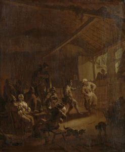 Peasants Dancing in a Barn | Nicolaes Berchem | Oil Painting