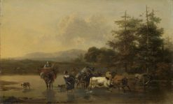 The Cattle Herd | Nicolaes Berchem | Oil Painting