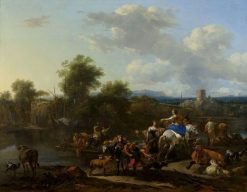 The Cattle Ferry | Nicolaes Berchem | Oil Painting