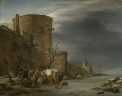 The Ramparts of Haalem in Winter | Nicolaes Berchem | Oil Painting
