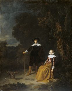 Portrait of a Couple in a Landscape | Nicolaes Berchem | Oil Painting