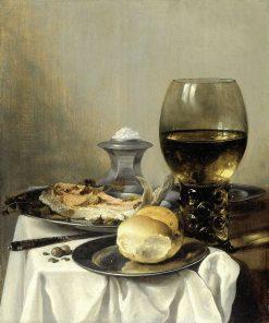 Still Life with Salt Tub   Pieter Claesz   Oil Painting