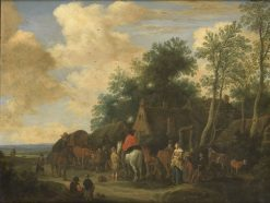 Halt at a Roadside Inn | Pieter de Molijn | Oil Painting