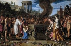 Orestes and Pylades Disputing at the Altar | Pieter Lastman | Oil Painting