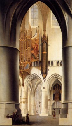 Interior of St Bavokerk in Haarlem | Pieter Saenredam | Oil Painting
