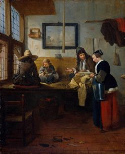 A Tailor's Workshop | Quiringh van Brekelenkam | Oil Painting