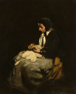 Woman Sewing | ThEodule Augustin Ribot | Oil Painting