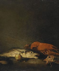 Still Life with Fish | ThEodule Augustin Ribot | Oil Painting