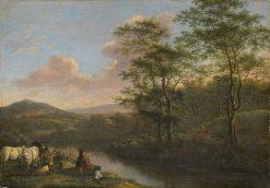 Italian Landscape with a Herdsman | Willem de Heusch | Oil Painting