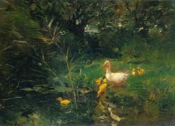 Ducklings | Willem Maris | Oil Painting