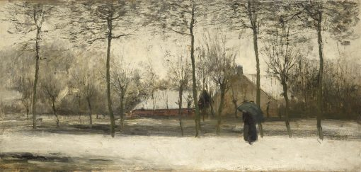 Winter Scene   Willem Maris   Oil Painting