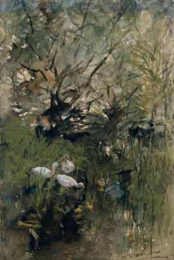 Ducks among Willows | Willem Maris | Oil Painting