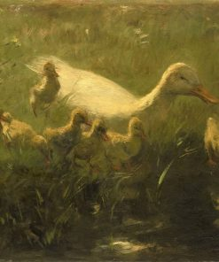 White Duck with Ducklings | Willem Maris | Oil Painting