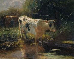 Cow beside a Ditch | Willem Maris | Oil Painting
