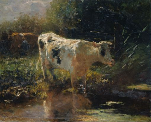 Cow beside a Ditch   Willem Maris   Oil Painting