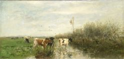 Cows in a Soggy Meadow | Willem Maris | Oil Painting