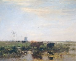 Meadow with Cows by the Water | Willem Maris | Oil Painting