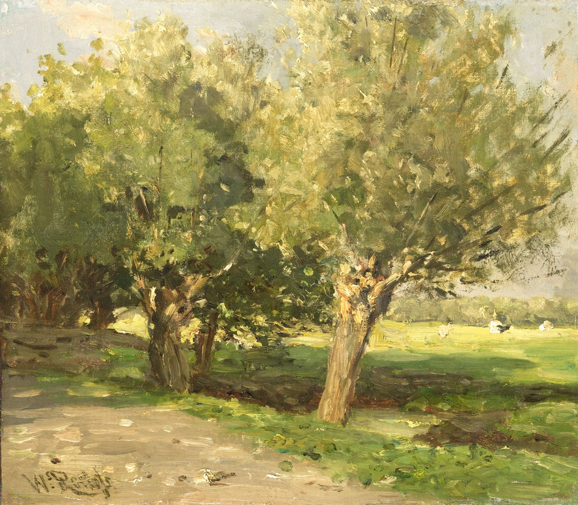 Willow Trees | Willem Roelofs | Oil Painting