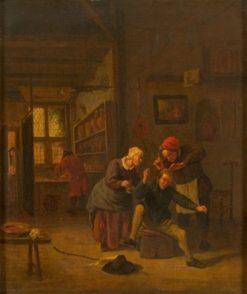 The Lice Groomer | Jan Havicksz. Steen | Oil Painting