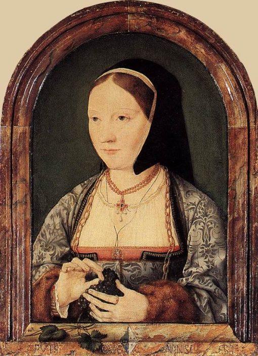 Portrait of Agniete van den Rijne | Joos van Cleve | Oil Painting