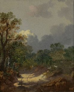 Landscape with a Shepherd and Sheep | Thomas Gainsborough | Oil Painting
