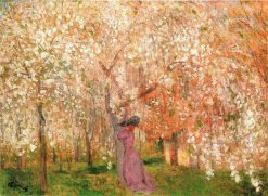 Under the Cherry Tree in Blossom | Jozsef Rippl Ronai | Oil Painting