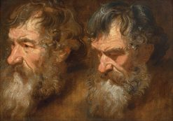 Two Studies of a Man's Head | Anthony van Dyck | Oil Painting