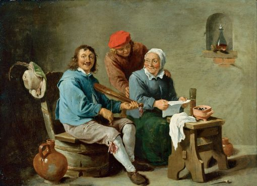 Domestic Scene with Three Figures | David Teniers II | Oil Painting