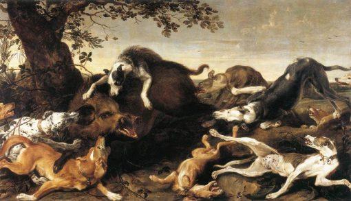 Wild Boar Hunt | Frans Snyders | Oil Painting