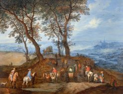 Travellers on their Way | Jan Brueghel the Elder | Oil Painting