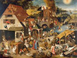 Proverbs | Pieter Brueghel the Younger | Oil Painting