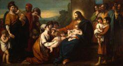Christ Blessing Little Children | Benjamin West | Oil Painting