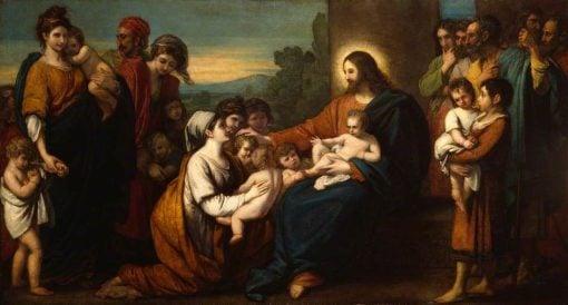 Christ Blessing Little Children   Benjamin West   Oil Painting