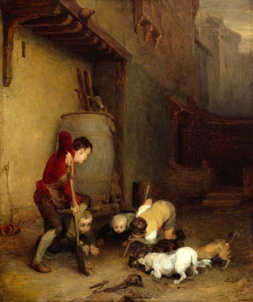 Boys Digging for Rats | David Wilkie | Oil Painting