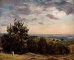 Landscape Study: Hampstead Looking West | John Constable | Oil Painting