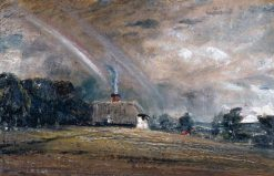 Landscape Study: Cottage and Rainbow | John Constable | Oil Painting