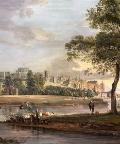 View of Windsor Castle from the banks of the River Thames | Paul Sandby