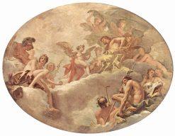 Cupid and Jupiter   Sebastiano Ricci   Oil Painting