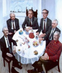 Six Academy Presidents(also known as Gallus Gallus with Still Life and Presidents) | Stuart Pearson Wright | Oil Painting