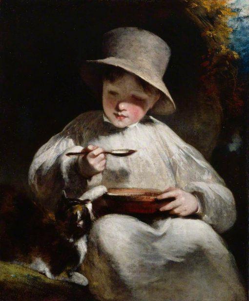 Boy and Kitten   William Owen   Oil Painting