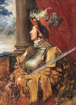 S. J. Whawell in Landsknecht Armour | John Seymour Lucas | Oil Painting