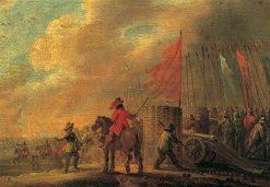 Battle Scene with Artillery | Pieter Meulener | Oil Painting