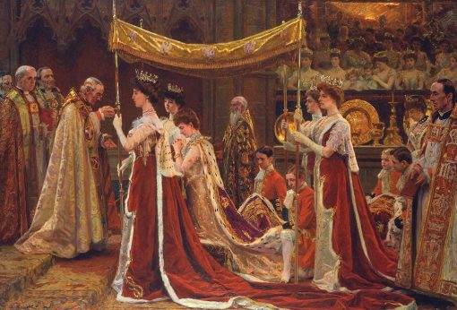 The Anointing of Queen Alexandra at the Coronation of King Edward VII | Laurits Tuxen | Oil Painting